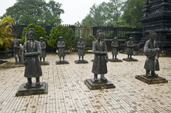 Khai Dinh Kaiser-Mausoleum, Farbe, Vietnam.   lizenzfreie stockfotos