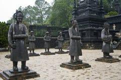 Khai Dinh kejsareMausoleum. Ton Vietnam. Arkivbild