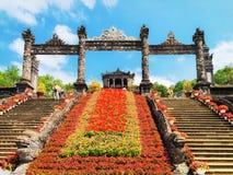 Khai Dinh Tomb of Hue Vietnam. Hue, Vietnam - February 19, 2016: Khai Dinh Tomb of Hue, Vietnam stock image