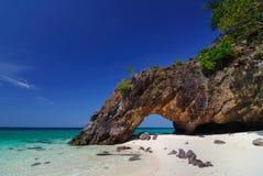 Khai island nature stone arch,Lipe,Thailand Royalty Free Stock Image