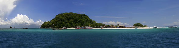 Khai Nok island. Panoramic view of Khai Nok island, Phuket, Thailand royalty free stock photo