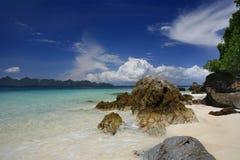 Khai Nok View. A view of the island Kai Nok off the east coast of Phuket Thailand royalty free stock photo