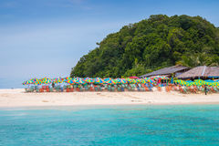 Khainui strand i Phuket Arkivfoto