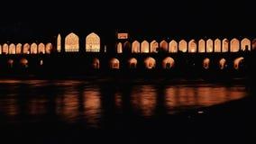 Khaju Bridge Isfahan stock video