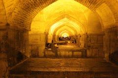 Khaju bridge in night. View on Khaju bridge in night, Oldest Bridge of Isfahan,Iran Royalty Free Stock Images