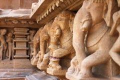 Khajuraho świątynie i ich erotyczne rzeźby, India Fotografia Royalty Free