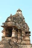 Khajuraho świątynie i ich erotyczne rzeźby, India Zdjęcia Royalty Free
