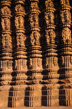 Khajuraho#9. Great piece of indian art is the Khajuraho temple.See the sculptures on the wall Royalty Free Stock Photography