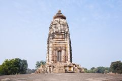 Hindu and Jain temples in Khajuraho. Madhya Pradesh, India. Royalty Free Stock Images