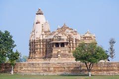 Hindu and Jain temples in Khajuraho. Madhya Pradesh, India. Royalty Free Stock Photography