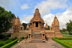 Khajuraho Hindu and Jain temples, India Royalty Free Stock Photography