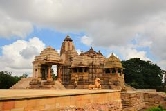 Khajuraho Hindu and Jain temples, India Stock Photo