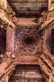 KHAJURAHO INDIEN - NOVEMBER 10, 2017: Kupol av den Lakshmana templet i Khajuraho Royaltyfri Fotografi