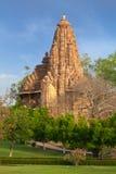 khajuraho lakshmana matangeshwar寺庙 免版税库存照片