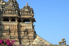 Khajuraho monument Royalty Free Stock Images