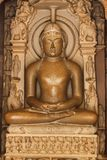 Khajuraho-Tempel buda Statue, Indien Stockfoto