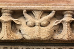 Khajuraho tempel och deras erotiska skulpturer, Indien Arkivbilder
