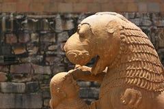 Khajuraho tempel och deras erotiska skulpturer, Indien Royaltyfri Fotografi