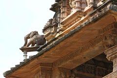Khajuraho-Tempel und ihre erotischen Skulpturen, Indien Lizenzfreie Stockfotografie
