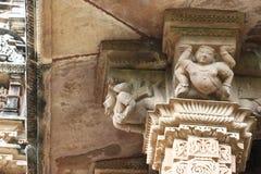 Khajuraho-Tempel und ihre erotischen Skulpturen, Indien Lizenzfreies Stockfoto
