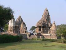 Khajuraho Temple. The famous Khajuraho Temples dediacated to the Karma Sutra Stock Photography