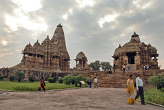 Khajuraho Temple in India Stock Photo