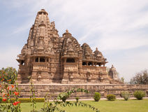 Khajuraho Temples, India. Khajuraho Hindu Temples in India,  built in 10th-12th century by the Chandella dynasty famous for their intricate and delicately Royalty Free Stock Photos