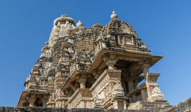 Khajuraho temples, India. One of the Kamasutra temples in Khajuraho India Royalty Free Stock Image