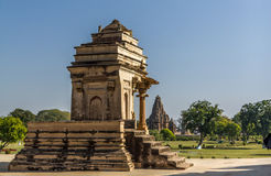 Khajuraho temples, India. One of the smaller temples in Khajuraho, India Stock Photo