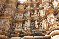 Khajuraho temples and their erotic sculptures, India Stock Images