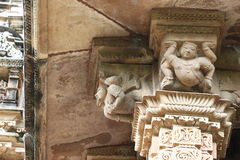 Khajuraho temples and their erotic sculptures, India Royalty Free Stock Photo