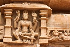 Khajuraho temples and their erotic sculptures, India Royalty Free Stock Image