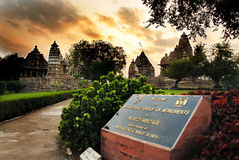 Khajuraho - World Heritage Site of India Royalty Free Stock Photo