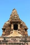 Khajurahotempels en hun erotische beeldhouwwerken, India Stock Fotografie
