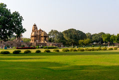 Khajurao temple complex in India Royalty Free Stock Images