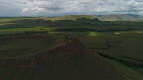 Khakasiya - berg Sunduki - ställe av styrka arkivfilmer