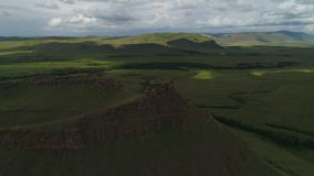 Khakasiya - montagne Sunduki - posto di forza stock footage