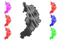 Khakassia mapy wektor Ilustracja Wektor