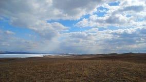 Khakassia Paesaggi della primavera Immagini Stock