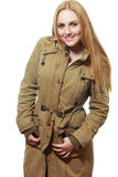 Khaki coat Stock Photography
