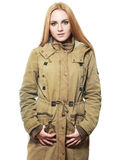 Khaki coat Stock Photo