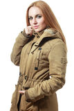 Khaki coat Royalty Free Stock Photography