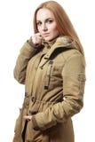 Khaki coat Royalty Free Stock Photography