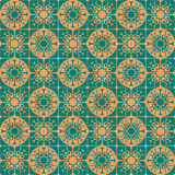 Khaki Colors Art Deco Style lattice Pattern design. Original Pat Royalty Free Stock Images