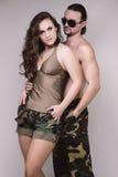 Khaki couple Stock Photography