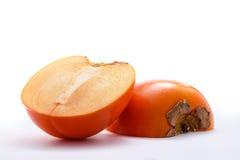 Khaki Fruit on White Background. Fresh Fruit Royalty Free Stock Photo
