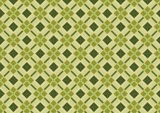 Khaki Green Diamond Pattern. A rich and colorful khaki quilt pattern in green colors made from real fabric details Stock Photo