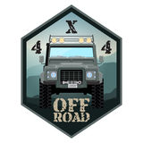 Khaki offroad car truck 4x4. Illustration royalty free illustration