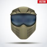 Khaki paintball mask with goggles. Original design Royalty Free Stock Photos