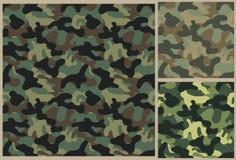 Khaki pattern, camouflage texture Stock Images